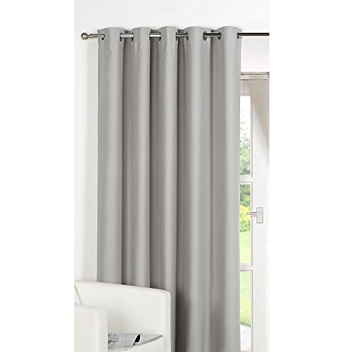 Dreamscene Luxury Ring Top Fully Lined Blackout Eyelet Thermal Door Curtain Silver 66 x 84-Inch  sc 1 st  Amazon UK & Single Thermal Door Curtain: Amazon.co.uk