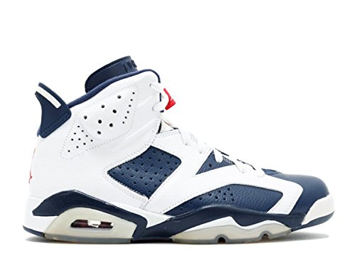 Nike air jordan 6 retro white, midnight navy-vrsty red
