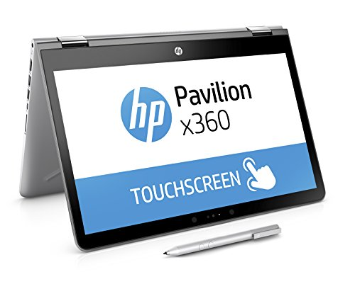 HP Pavilion x360 14-ba026ng (14 Zoll / FHD Touchscreen) Convertible Notebook (Intel Core i3-7100U, 8GB RAM, 256GB SSD, Intel HD-Grafikkarte 620, Windows 10 Home 64) silber