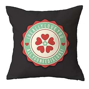 TYYC I Really Love You Cushion Cover 12x12, Love Cushion Cover for Boyfriend, Girlfriend, Wife, Husband