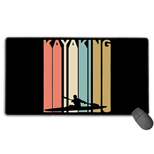 liulishuan Extended Large Gaming Mouse Pad/Mat, Retro Kayaking Kayaker Custom Mouse Mats with Non-Slip Rubber Base for Computers Laptop, Durable Stitched Edges New5 (Wwe In Der Edge)