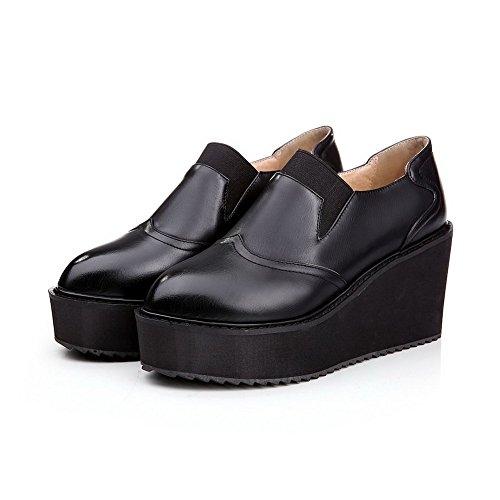 Adee pour femme élastique cales polyuréthane Pompes Chaussures Noir