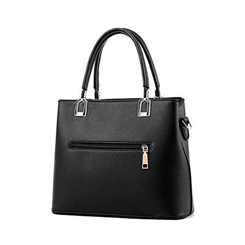 Toopot Sacchetto di spalla di cuoio della borsa di cuoio di Pu Può semplice semplice delle donne Rosa