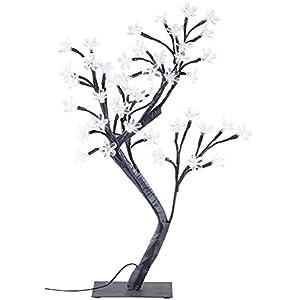Lunartec LED Bäumchen: LED-Lichterbaum mit 48 leuchtenden Blüten und Sockel, 45 cm (Leuchtbaum)