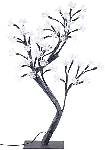 Lunartec Lichtbaum: LED-Lichterbaum mit 48 leuchtenden Blüten und Sockel, 45 cm (Leuchtbaum)