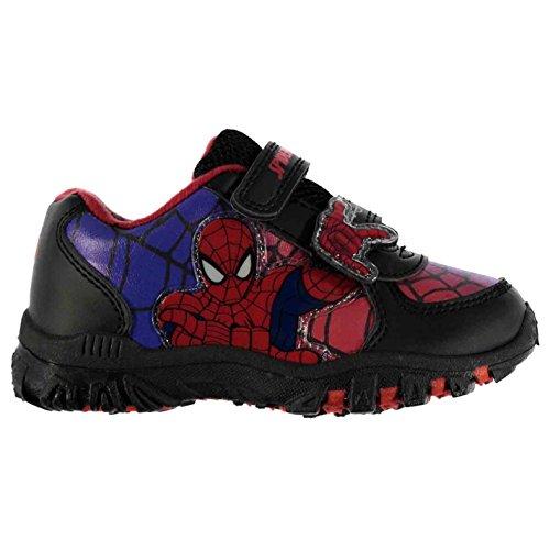Heatons Kinder Spider Turnschuhe Sportschuhe Sneaker Klettverschluss Schuhe Marineblau