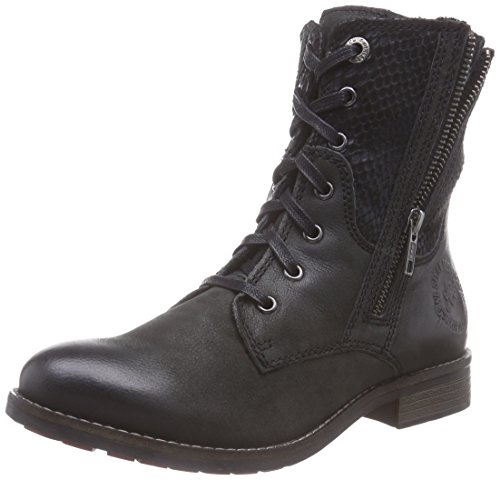 s.Oliver 25354, Damen Kurzschaft Stiefel, Schwarz (Black Snake 36), 41 EU (7.5 Damen UK) (Snake Leather Stiefel)