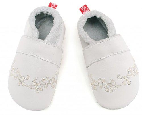 Anna und Paul , Chaussures souples pour bébé (fille) blanc blanc 20-21 EU / M