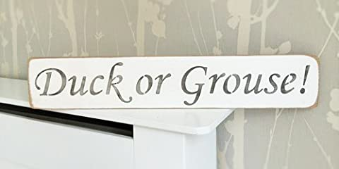 Duck or Grouse Solid Wood Home Decor Sign Plaque Handmade
