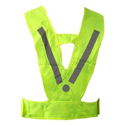 Kinder - Warnweste Sicherheitsweste - reflektierendes Gelb-Grün mit silbernen Zusatzreflektoren Neu