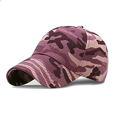 GEEAUASSD Sports Hat Breathable Outdoor Run Cap Camo Baseball caps Shadow Structured hats (Rose Red)