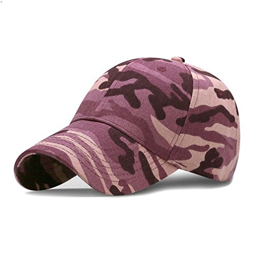 GEEAUASSD Sports Hat Breathable Outdoor Run Cap Camo Baseball caps Shadow Structured hats (Rose Red) (Camo Red Head)