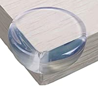 Neotech Care Furniture Corner Protectors/Guards - Clear Silicone Rubber - Strong Adhesive Tape - Round with Flat top (Pack of 8)