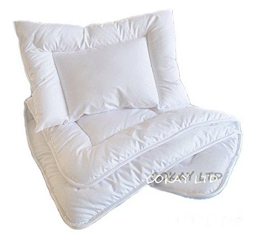 Luxury 2 pcs BABY BEDDING SET/PILLOW + DUVET to fit cot or cot bed DUVET SIZE 135 X100 CM