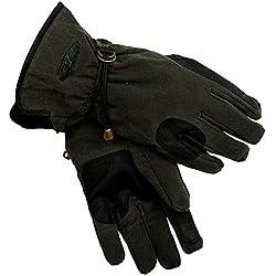 Kakadu Traders Handschuhe in schwarz Größe XL | Baumwolle mit Leder verstärkt | zum Reiten, der Gartenarbeit, im Winter