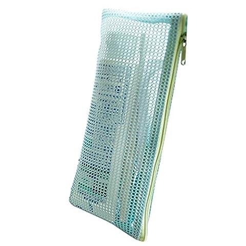 SZTARA Mesh Zipper Storage Bag Organizer Travel Portable Toiletries Cosmetic Makeup Case Purse Pouch Blue