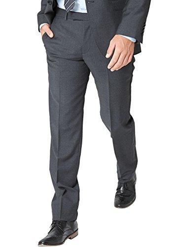 s.Oliver BLACK LABEL Herren Anzughose mit Struktur, Einfarbig, Gr. 90, Grau (Dark Grey 9898)