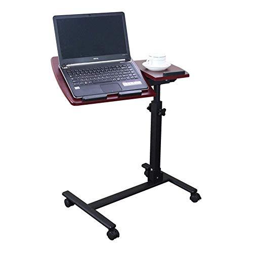 llen-Mode-faltender Aufzug, der beweglichen Laptop-Schreibtisch des Nachttischs dreht (Color : Brown) ()