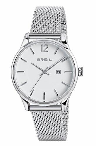 Breil orologio analogico quarzo donna con cinturino in acciaio inox tw1567, 33 mm, colore: argento