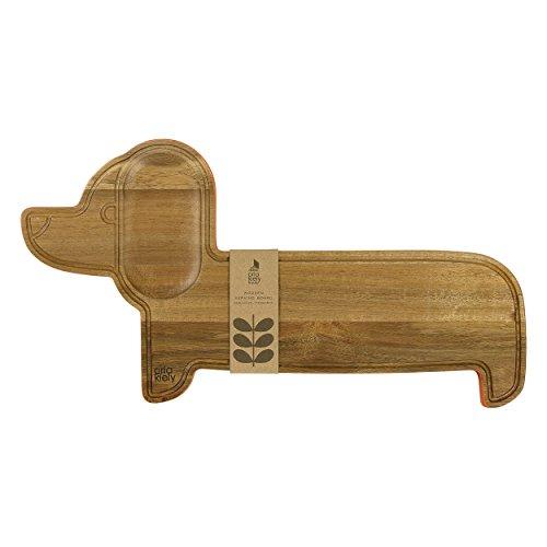 Orla Kiely Holz Servieren Board Dackel Persimmon, Holz, Multi/Bunt, 2,5x 47,5x 2cm (Wurst-board Käse Und)