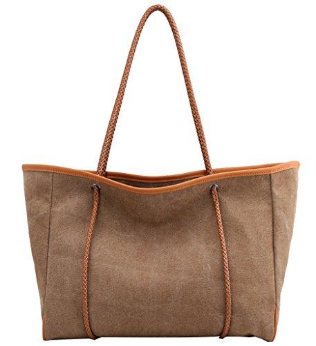Super moderno tela grande borse borsetta da donna, borsa a tracolla, borsa messenger, donna, Blue Coffee