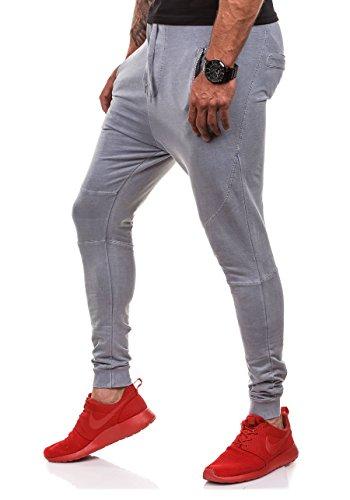 BOLF Herren T-Shirt Tee Slim Fit Kurzarm Rundhals Army Print Camo 3C3 Motiv Grau