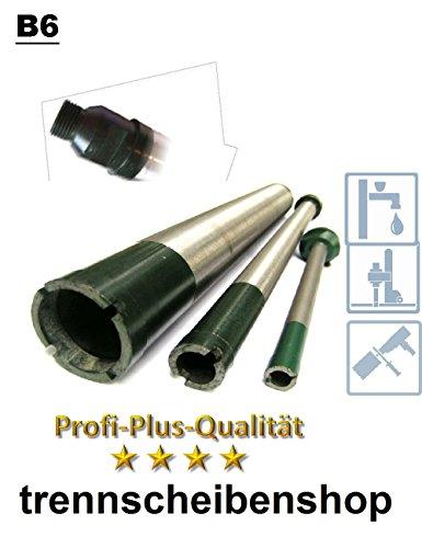 Preisvergleich Produktbild Diamant Bohrkrone, BK6_Ø 10 mm, NL= 150 mm, Aufnahme R 1/2 Zoll,, Ringsegment 8 mm, Stahlbeton leicharmiert, Mauerwerk, universal,