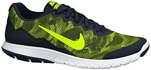 Nike Flex Experience Rn 4 Prem, Scarpe sportive, Uomo, Nero (Black/Volt-White), 42.5