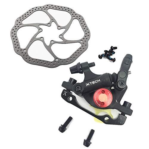 HGYIN-Disc brake Zoom HB-100 MTB Freno Bici HB100 Freni Bici Pinza W Rotori Componenti Bici Pistone Idraulico Leva Freno V a Due Vie (Color : Pair Black w Rotor)