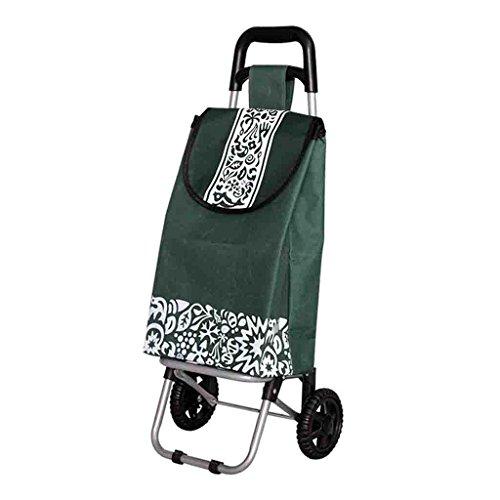 Einkaufswagen Hohe Kapazität Einkaufswagen Home Supermarkt Einkaufswagen Ältere Trolley Auto Zwei Runde Einkaufstasche Falten Senior Wagon (Kapazität 25L)