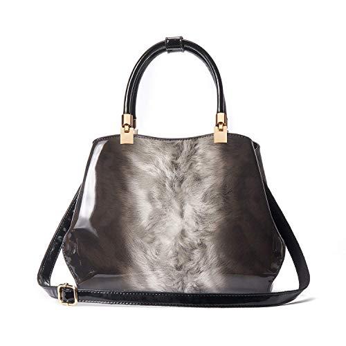 IBFUN Frauen Handtaschen Top Handle Bags Patent Leder Schulter Taschen Satchels Tote Bags Ladies Purses -