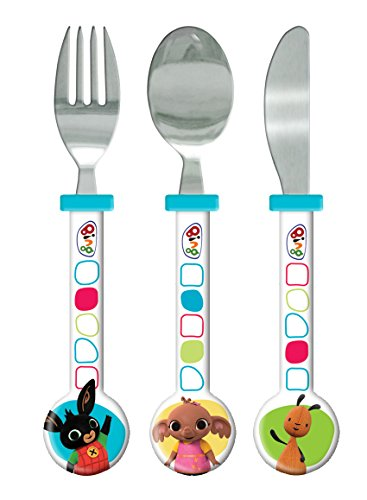Bing Cutlery Set, Plastic, Multi-Colour, Set of 3