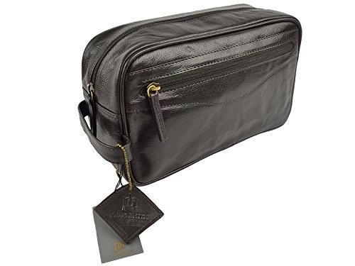 En cuir de qualité supérieure pour homme Trousse de toilette par Primehide - Noir ou Marron Cadeau Élégant