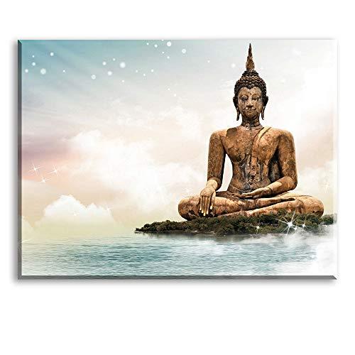 Quadro statua del buddha decorazione murale, stampe e quadri su tela