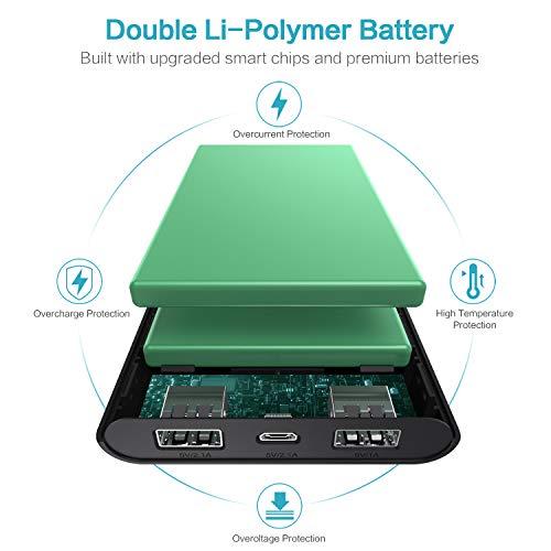 Trswyop Batería Externa 26800mAh,  Power Bank [4 Indicadores de Energía LED] Ultra Alta Capacidad Cargador Portátil Móvil con 2 Puertos USB para Smartphones Tabletas y Más