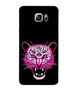 PrintVisa Designer Back Case Cover for Samsung Galaxy S6 Edge :: Samsung Galaxy S6 Edge G925 :: Samsung Galaxy S6 Edge G925I G9250 G925A G925F G925Fq G925K G925L G925S G925T (Tiger Face Danger Teeth Lion )