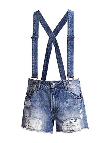 Jumpsuit Vila Vibarrel Denim Blue Shorts Blue