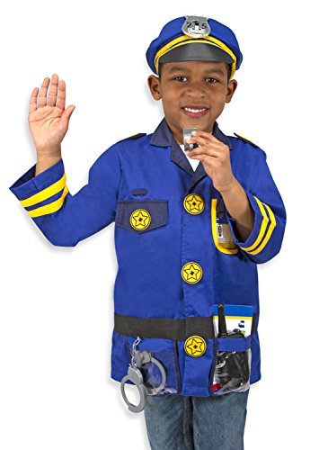 Imagen de melissa & doug  disfraz de agente de policía para niños 14835