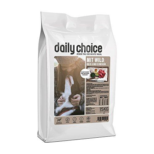 daily choice Basic | 2 x 15 kg | Trockenfutter für alle Hunderassen | mit Wild, Reis und Erbsen