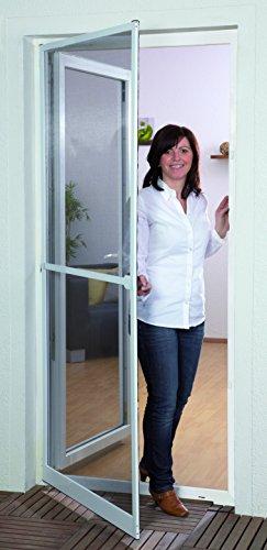 Culex - porta con zanzariera master, 100050301-vh, 100 x 210 cm, colore: bianco