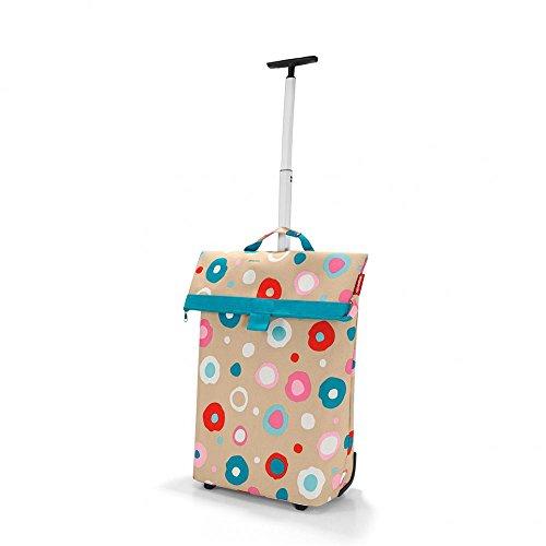 Reisenthel Trolley M, Borsa shopping, Carrello spesa rotolo, grigio talpa barocco, NT7027 - artista strisce Décor