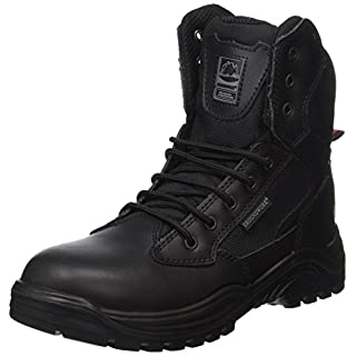 Steel Toe Cap Combat Tactical Safety Ankle Boots Security Military Police Boot (UK5, black)