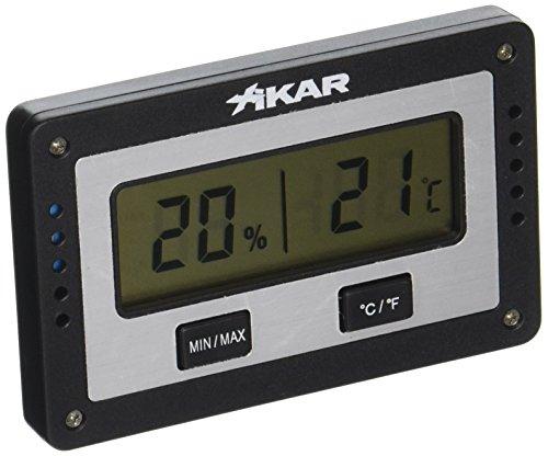 The Big Easy Tobacco Accessories XIKAR PuroTemp Digitales Hygrometer rechteckig (Zigaretten-unkraut-rohr)