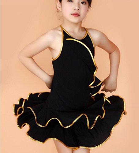 Latin Praxis Röcke Kinder Latein-Tanzkleidung Leistungskleidung Kostüme Kleidung Kinderkostümwettbewerb tanzen , 140cm , (Tanz Kostüme Latin Rock)