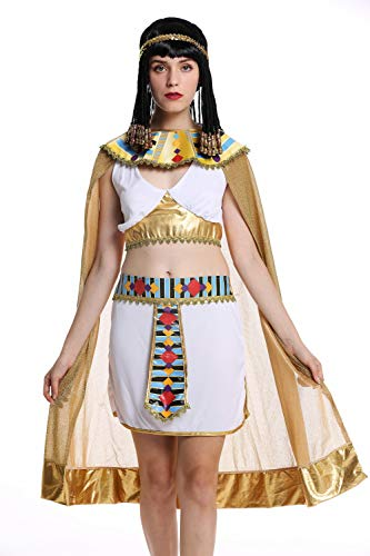 dressmeup W-0199 Kostüm Damen Frauen Karneval Halloween Ägypterin Kleopatra Cleopatra Pharaonin weiß S