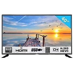 HKC 40F1N 101,6 cm (40 Pouces) LED téléviseur (Full HD, Triple Tuner, Lecteur multimédia Via Port USB) [Classe énergétique A]
