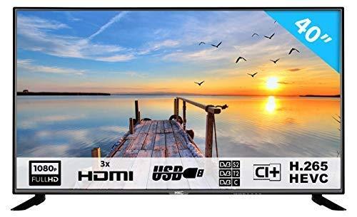 HKC 40F1N - 102 cm (40 Zoll) LED Fernseher (Full HD, Triple Tuner) [Energieklasse A]