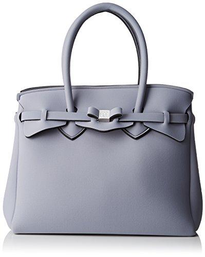 Save My Bag Damen Miss Henkeltasche, 34x29x18 cm Grigio (Vapore)