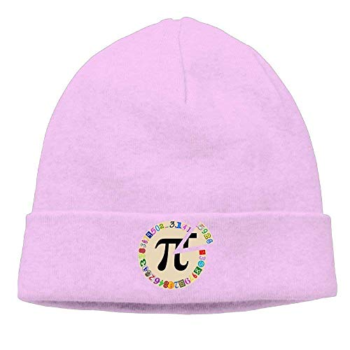 Preisvergleich Produktbild TRUIOKO Skull Cap Knitted Hat Men's Funny and Colorful Piece of Pi Calculated Warm Jogging Beanies Hat
