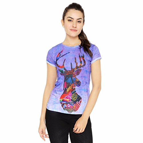 Muse The Colorful Wild Deer Multi Color T-Shirt | Tee for Women - M